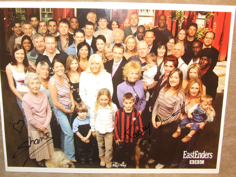 Eastenders Old Cast Photograph Printed Signed PLUS Alfie & Little Mo Autographs - Vintage Retro And Vinyl - 1