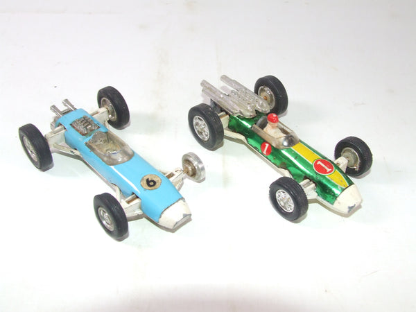 Two F1 Racing Cars From the 1960s Marx & Hong Kong Vintage