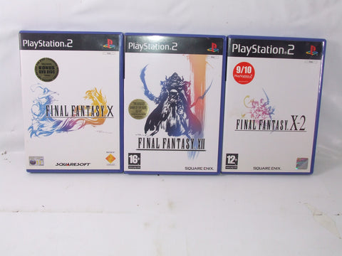 Final Fantasy X, XII, X-2 All Black Label For PS 2 Video Games