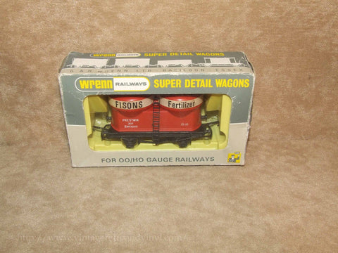Prestwin Wagon Fisons - Wrenn Super Detail Wagon OO/HO # W4658 - Boxed - Vintage Retro And Vinyl - 1