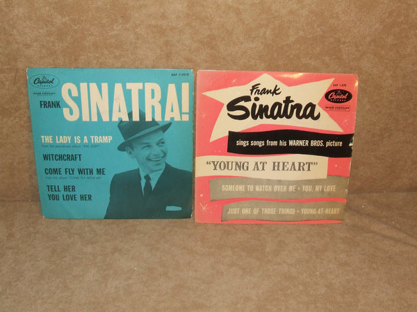 Frank Sinatra 2 x EPs Young At Heart The Lady Is A Tramp Pic Sleeves Capitol