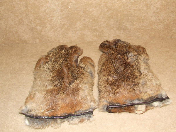 Ladies Gloves True Vintage Fur And Leather Brown Small - Vintage Retro And Vinyl - 1