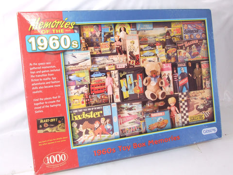 Gibsons Jigsaw Memories of the 1960's Toy Box Memories 1000 pieces