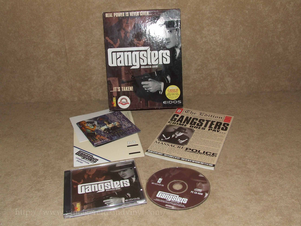 Gangsters PC Big Box Game - Eidos -With Manual & Flyers - VGC - Vintage Retro And Vinyl - 1