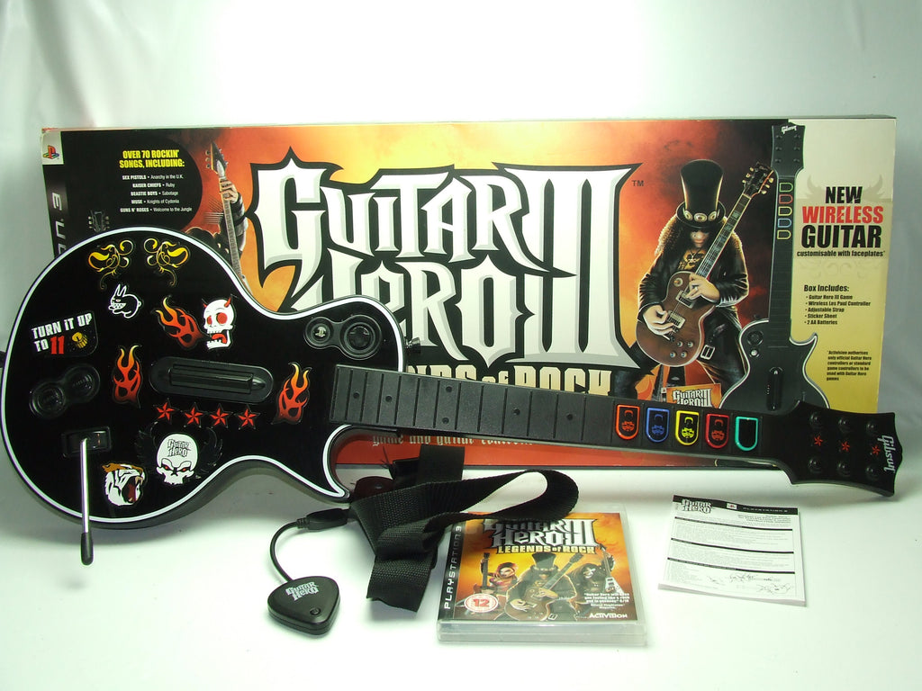 Guitar Hero III Legends Of Rock With Gibson Les Paul Guitar And USB Receiver PS3