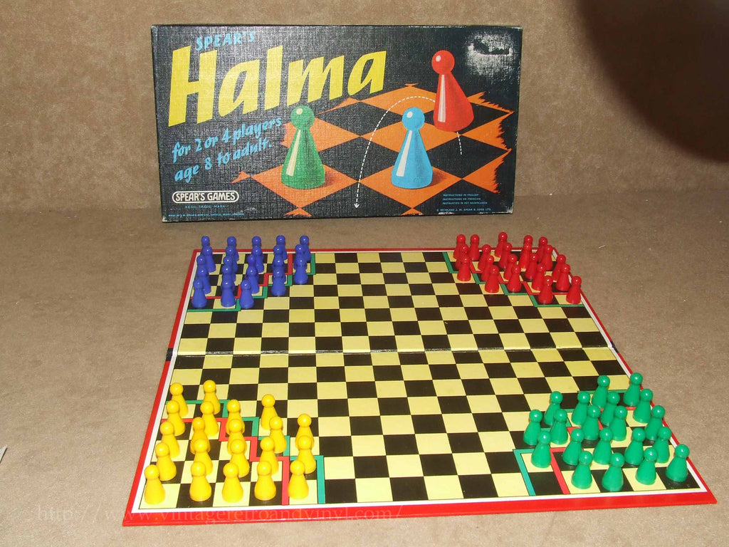 Halma - Spears Games - Vintage 1970's - Boxed - Made In England - Vintage Retro And Vinyl - 1