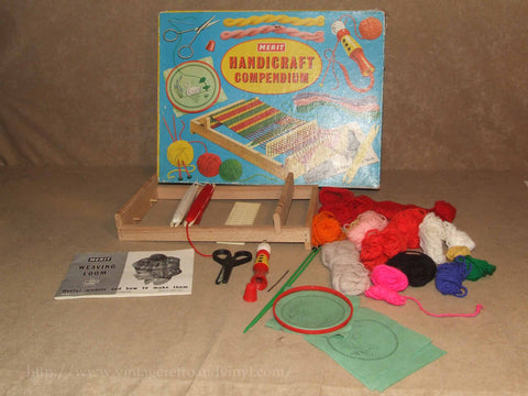 Handicraft Compendium - Including Weaving Loom - Boxed - Merit - Vintage 1950's - Vintage Retro And Vinyl - 1
