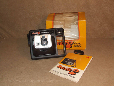 Handle 2 Instant Camera Kodak - Boxed - Untested - Vintage 1970's - Vintage Retro And Vinyl - 1