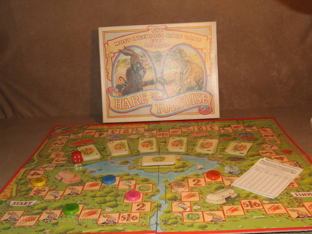 Hare And Tortoise Game Gibson Games Boxed And Complete Age 9+ Vintage 1987 - Vintage Retro And Vinyl - 1
