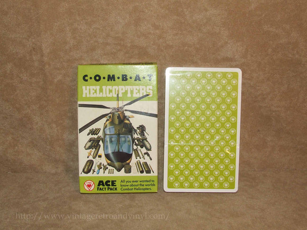Combat Helicopters Ace Fact Pack New Cards Sealed - Vintage 1980's - Vintage Retro And Vinyl - 1