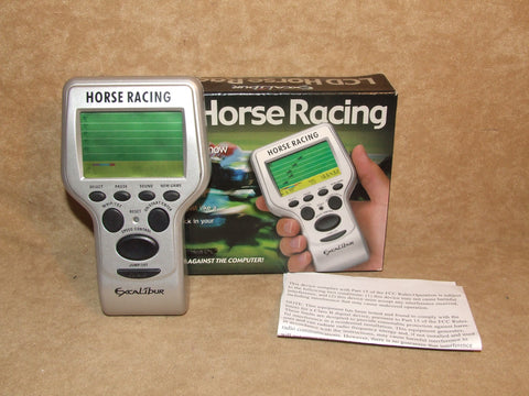 LCD Horse Racing Hand Held Game By Excalibur Boxed And Working