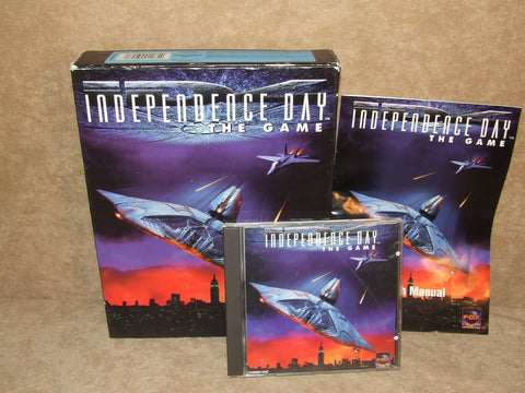 Independence Day The Game PC Big Box Game Windows 95 Manual And Outer Sleeve - Vintage Retro And Vinyl - 1