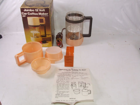 Jumbo 12v Car Coffee Maker Plus Baby Food Warmer Boxed Retro