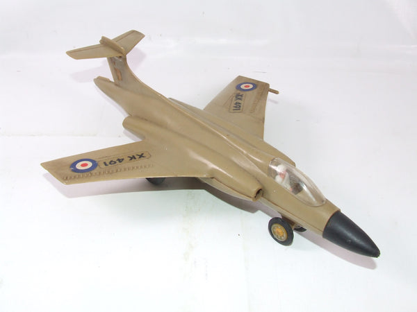 Vintage Royal Navy Friction Jet Plane Made In Hong Kong Ray's Toy # 1812 Plastic