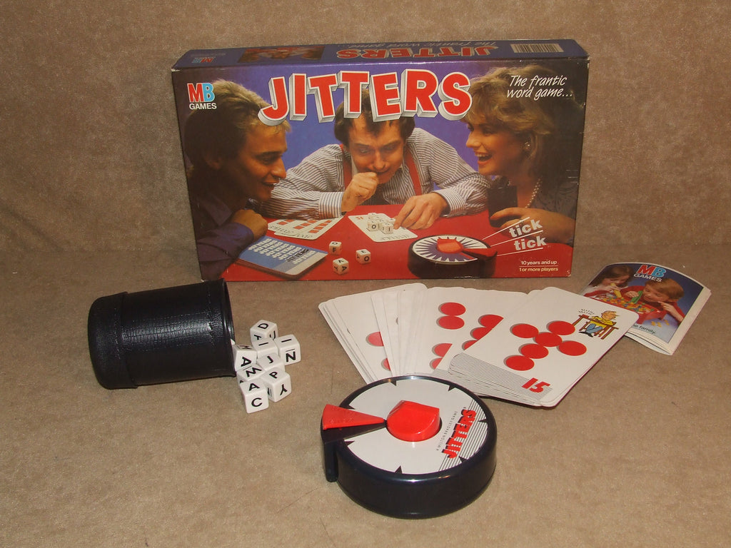 Jitters Timed Word Game - Boxed & Complete - MB Games - Vintage 1980's - Vintage Retro And Vinyl - 1