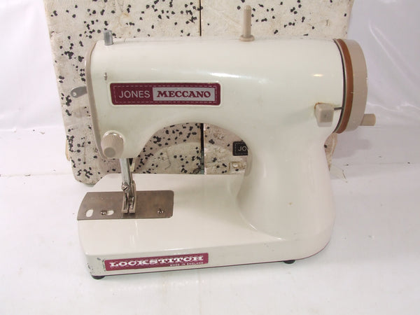 Jones Meccano Lockstitch Hand Operated Childrens Sewing Machine Boxed