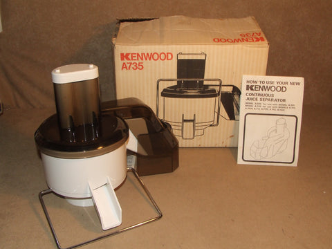 Kenwood A735 Continuous Juice Separator Use With A701/A A717/C A702/C Boxed