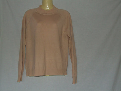 Ladies St Michael 1960's Style Courtelle Sweater Peach Made In Great Britain - Vintage Retro And Vinyl - 1