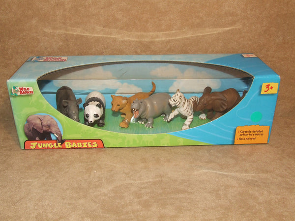 Safari Ltd Jungle Babies Hand Painted Superbly Detailed Authentic Figures BNIB - Vintage Retro And Vinyl - 1