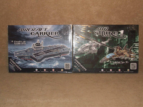 Aircraft Carrier & Airstrike 1 Easy To Assemble Model Kit Bundle