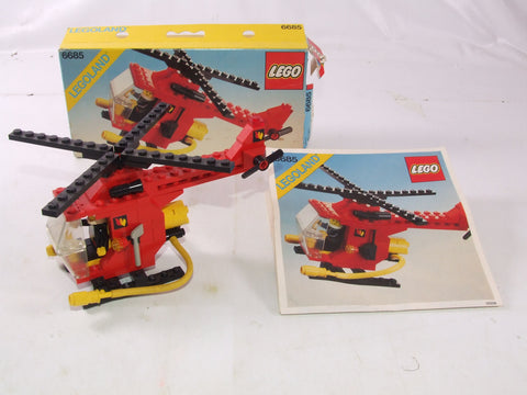 Lego Legoland Classic Fire Copter # 6685 Boxed With Instructions