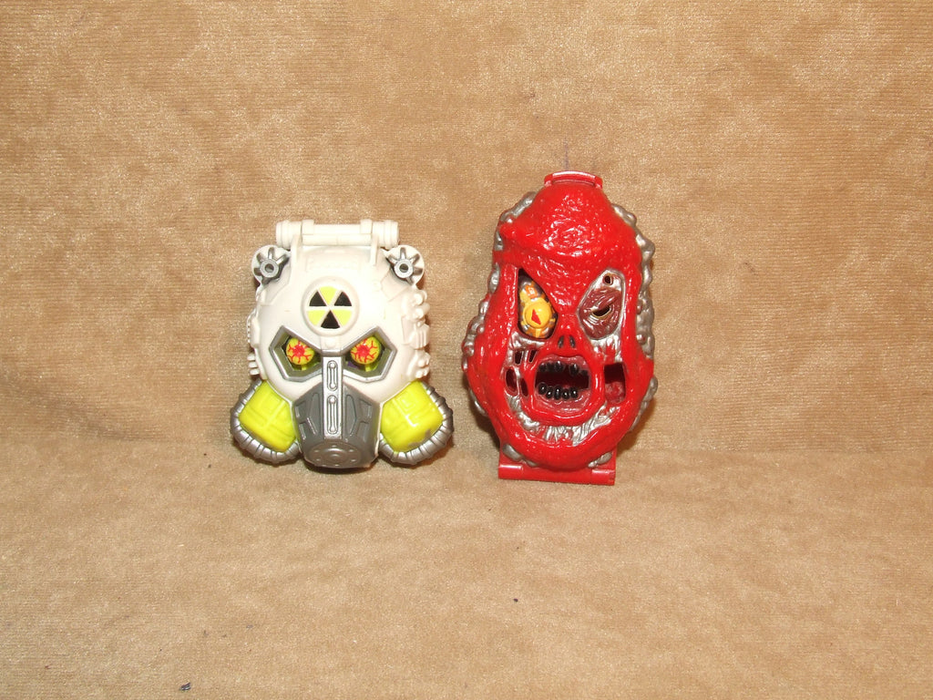 Mighty Max Horror Heads Lava Beast And Nuke Ranger Both Complete Vintage 1992 - Vintage Retro And Vinyl - 1