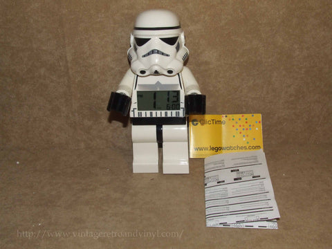 Lego Star Wars Storm Trooper Giant Minifigure Alarm Clock With Instructions VGC - Vintage Retro And Vinyl - 1