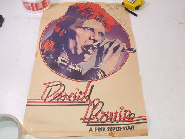 David Bowie Original Magazine Poster 43 x 27.5 cm Love On Ya 1970's