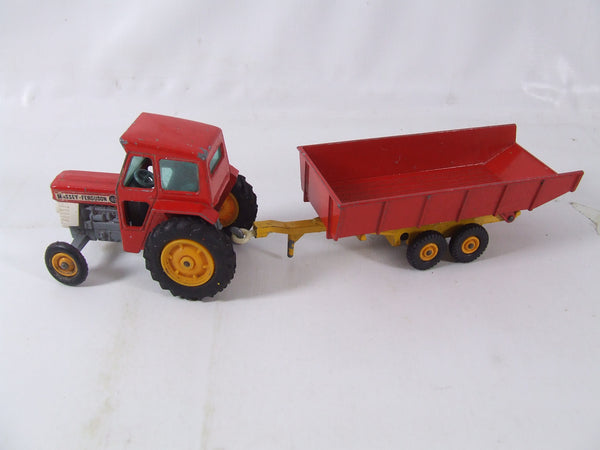 Matchbox King Size Massey Ferguson Tractor And Farm Trailer K3