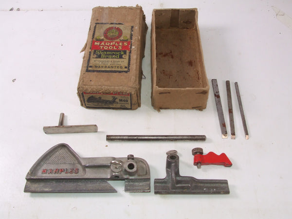 Marples M40 Grooving Plane With 3 Cutters In Original Box