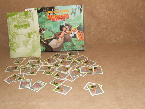 Jungle Book Matching Pairs Classic Memory Game - Boxed & Complete - MB Games - Vintage Retro And Vinyl - 1