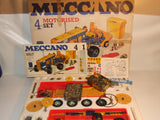 Meccano Motorised Set 4 Incomplete But Lots Of Extras Vintage 1970s Construction
