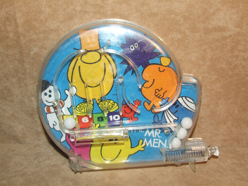 Mr Men Bagatelle Game Tin Back Working But Missing Clip On Stand - Vintage Retro And Vinyl - 1