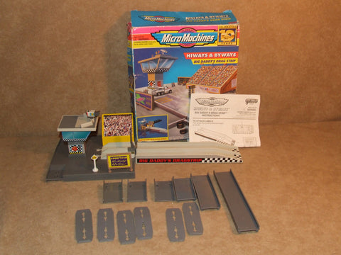 Micro Machines Hiways & Byways Big Daddys Drag Strip Boxed Complete Inst Galoob