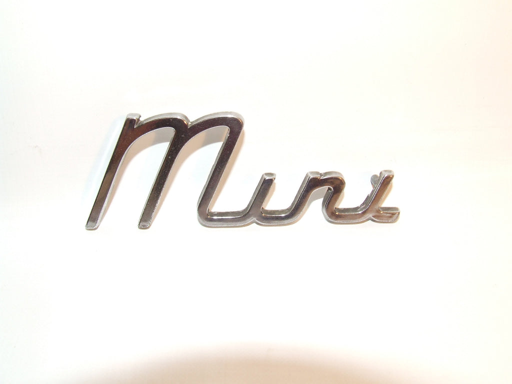 Vintage MINI Chrome Car Name Badge With Pins Genuine Part J Fray BMC Mini Cooper