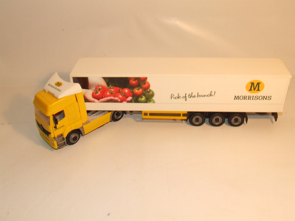 Morrisons Mercedes Lorry Truck And Trailer Catch Of The Day 47.5 cm Plastic Toy