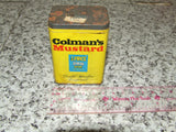 Colmans Mustard Tin And Contents Opened Paper Cover 1970's - Vintage Retro And Vinyl - 1
