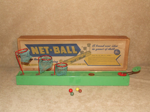 Net Ball Tin Plate Game By Ajax Co Ilford Ltd Vintage Boxed Collectable Game - Vintage Retro And Vinyl - 1
