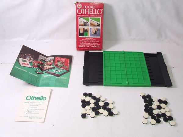 Pocket Othello Boxed Complete With Instructions and Flyer 1970's