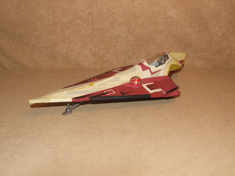 STAR WARS Obi Wan Kenobi Jedi Starfighter Hasbro 2001 - Vintage Retro And Vinyl - 1