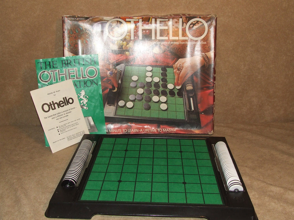Othello Game Boxed And Complete Vintage 1976 By Peter Pan Playthings - Vintage Retro And Vinyl - 1