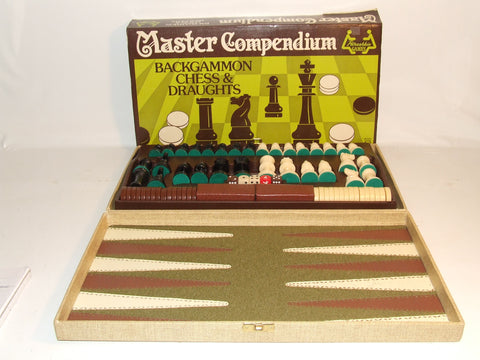Petrushkin Games Master Compendium Backgammon Chess And Draughts Model C5