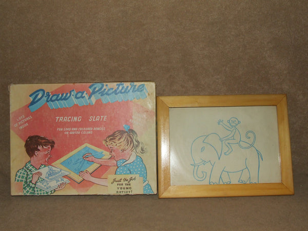 Draw A Picture Tracing Slate Vintage Boxed Circa 1950's - Vintage Retro And Vinyl - 1