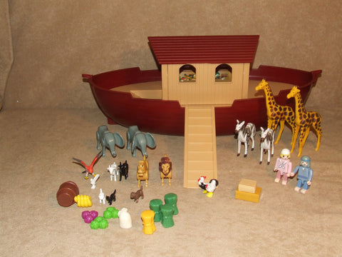 Noahs Ark And Animals By Playmobil Pre School Toy - Vintage Retro And Vinyl - 1
