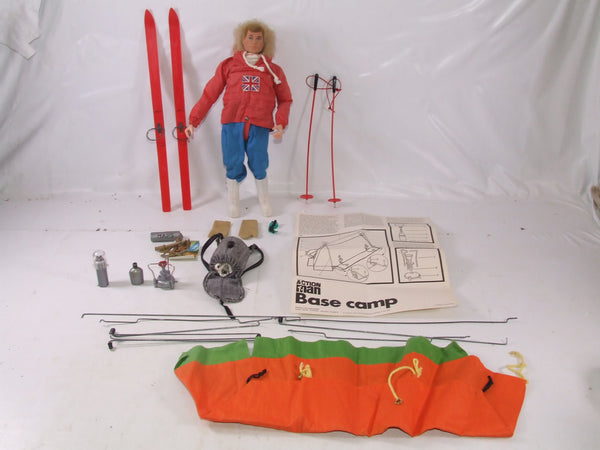Action Man With Polar Explorer Outfit & Base Camp & Accessories Vintage