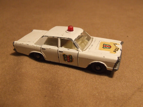 Lesney Ford Galaxie Police Car No 55c Made In England Vintage 1960's - Vintage Retro And Vinyl - 1
