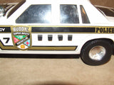 Rescue Force Police Car With Lights & Sound Effects - Buddy L - Plastic - Batt Op - Vintage Retro And Vinyl - 7