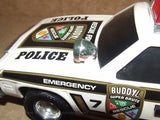Rescue Force Police Car With Lights & Sound Effects - Buddy L - Plastic - Batt Op - Vintage Retro And Vinyl - 8