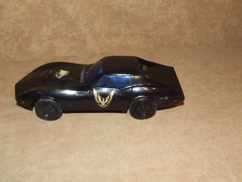 Corvette Plastic Sports Car - Thunderbird - Vintage Made In Hong Kong - Vintage Retro And Vinyl - 1