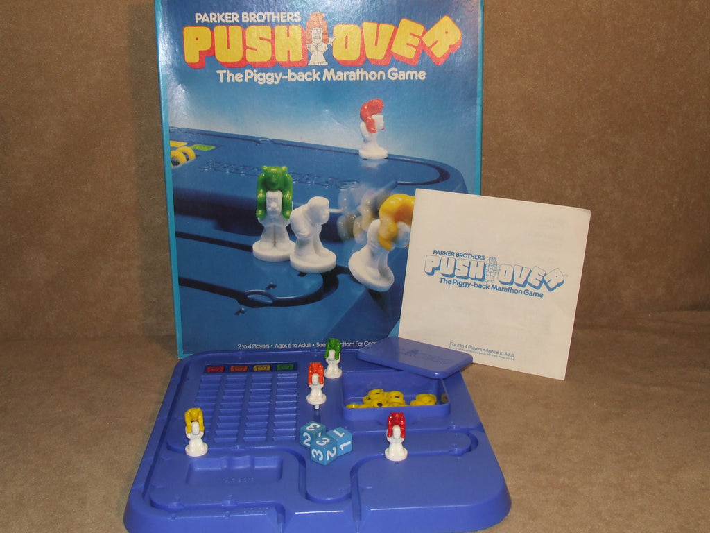 Push Over Game By Parker Brothers Boxed And Complete Vintage 1981 - Vintage Retro And Vinyl - 1